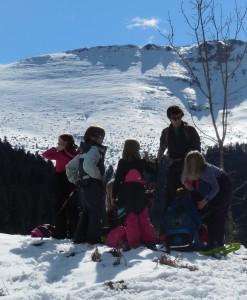 Education à l'environnement en raquettes